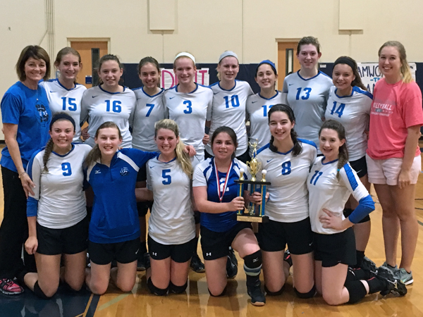 VOLLEYBALL TEAM SETS SIGHT ON DISTRICT CROWN